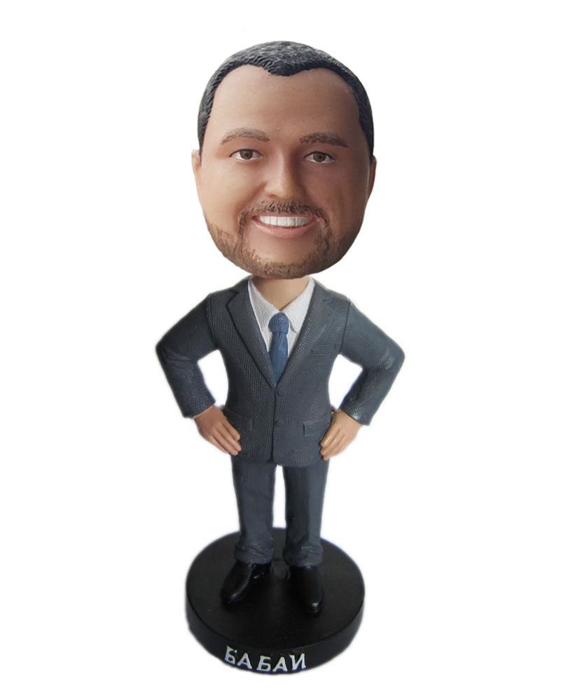 Make your own bobblehead male polymer clay dolls B301-1