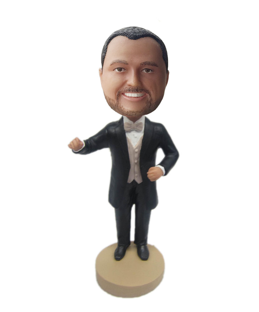 Music conductor custom bobblehead doll B303-1