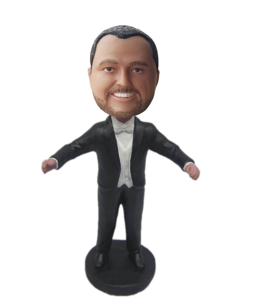 Groomsman bobblehead open the arm B309-1