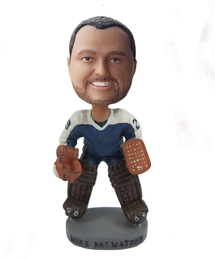 Awesome sport player with gloves custom bobblehead S400