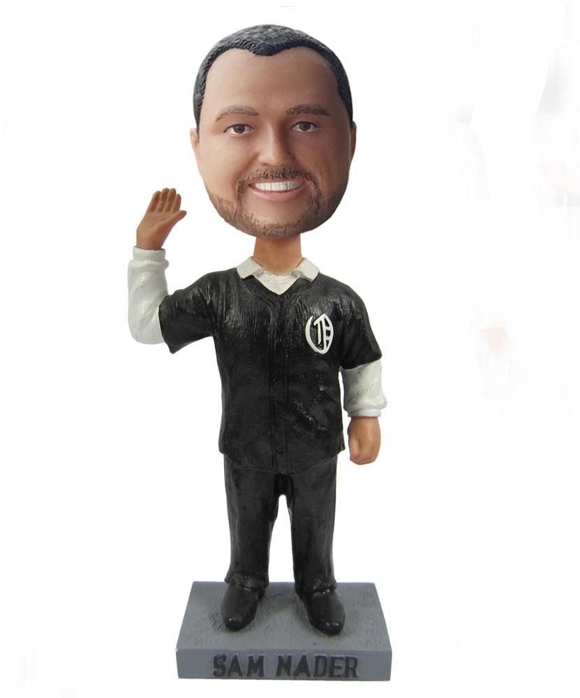 Referee bobblehead in black S405