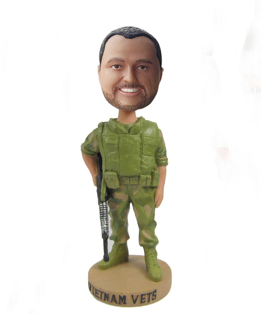Custom soldier bobblehead S406