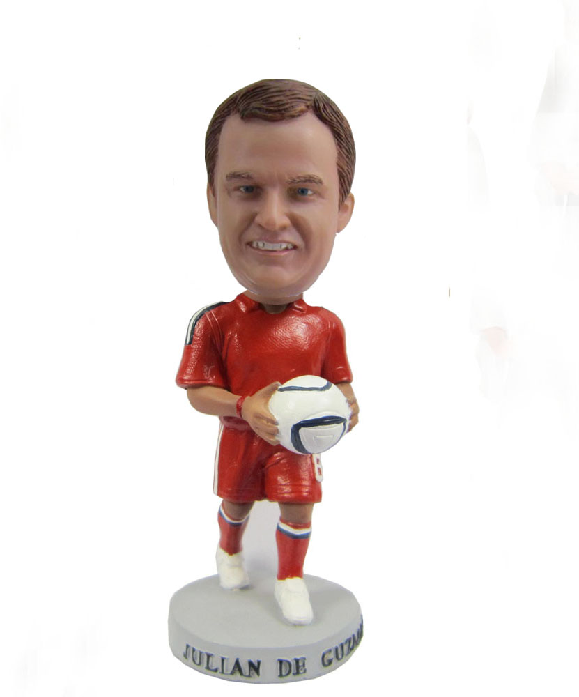 Sports bobbleheads in red uniform S416