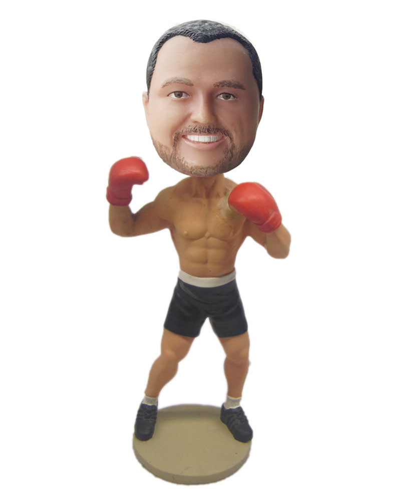 male boxing bobbleheads with red boxglove G209