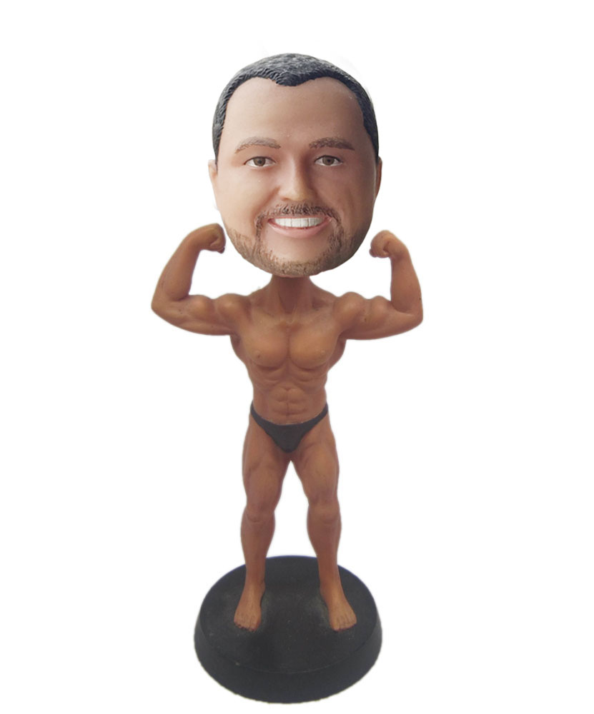 make bobble head of muscle man G210