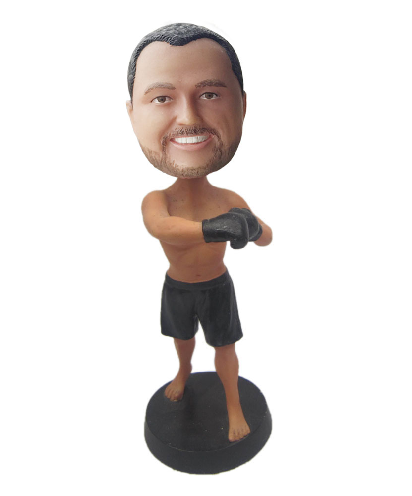 boxing bobbleheads with black boxglove G212
