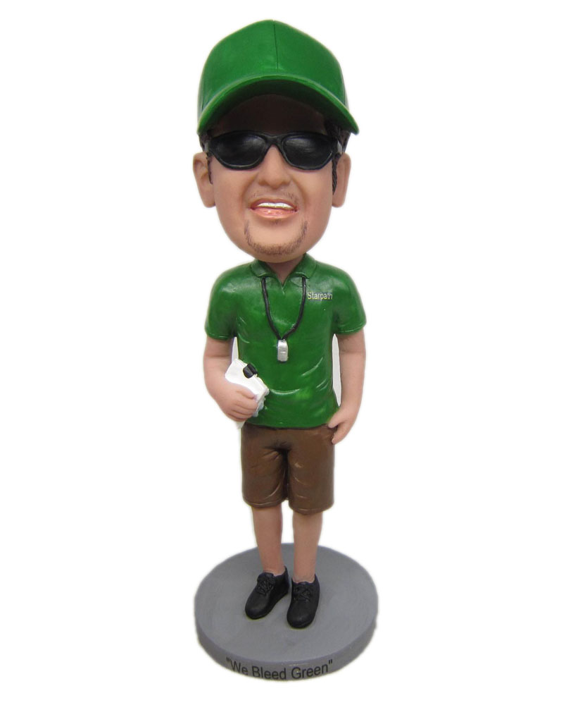 bobblehead collections with green shirt and blown pants G223
