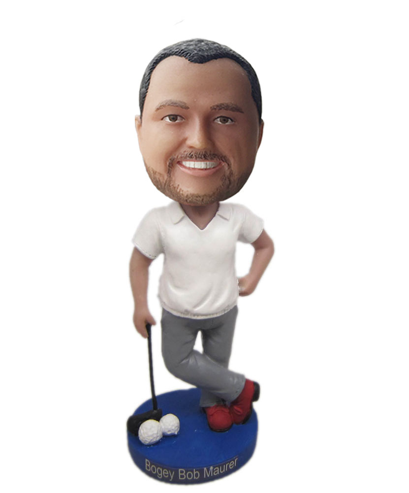 bobblehead figures of male golf player G232