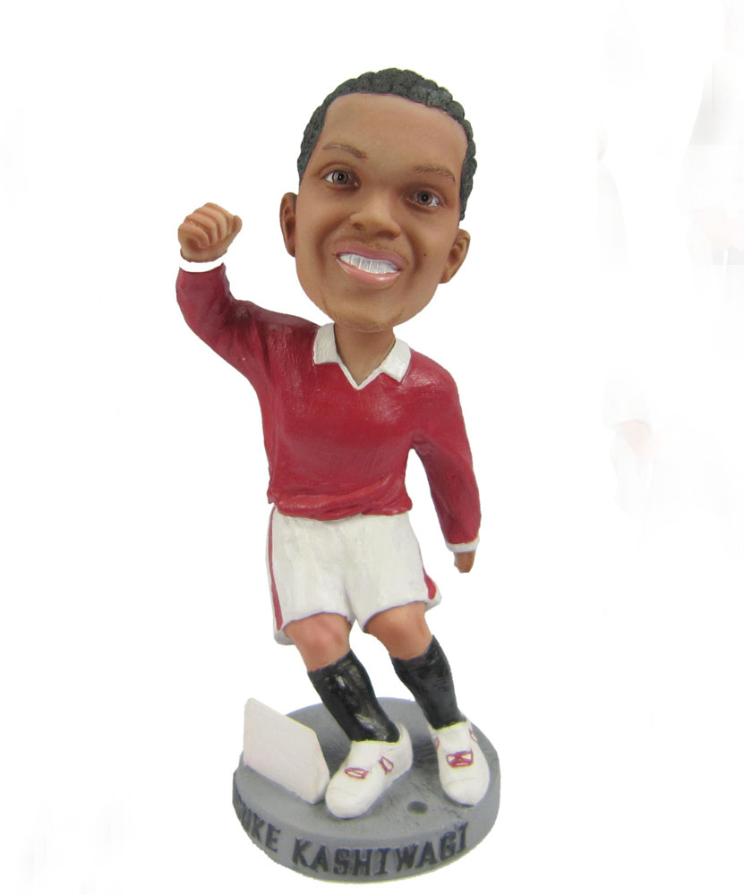 Soccer playing man bobblehead doll S431