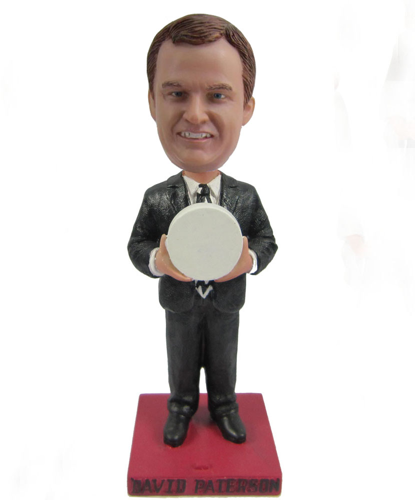 Man in black suit and hold ball bobbleheads
