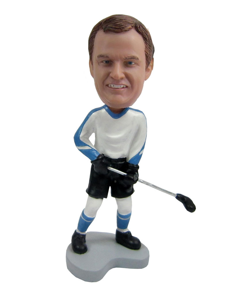 Custom hockey personalized bobbleheads from photo S438