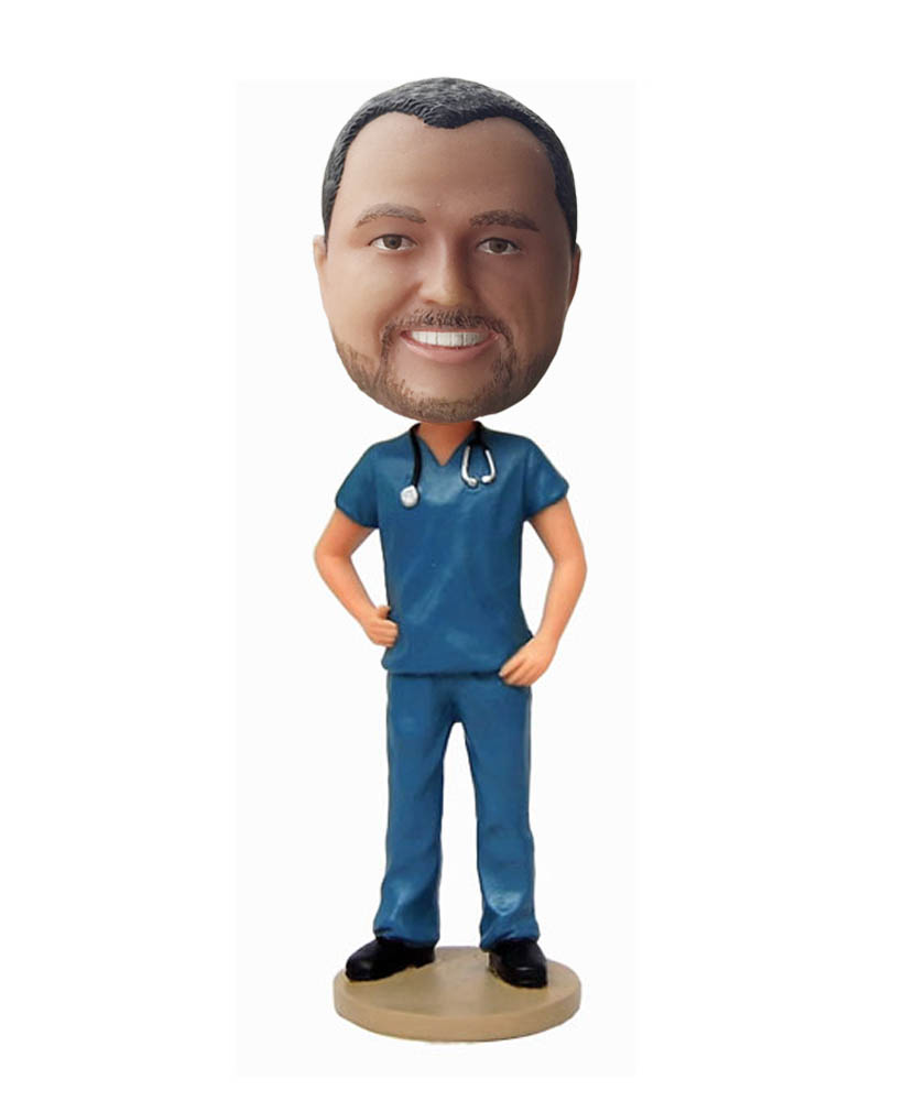 Male Nurse Bobbleheads Personalized Dolls With your Face