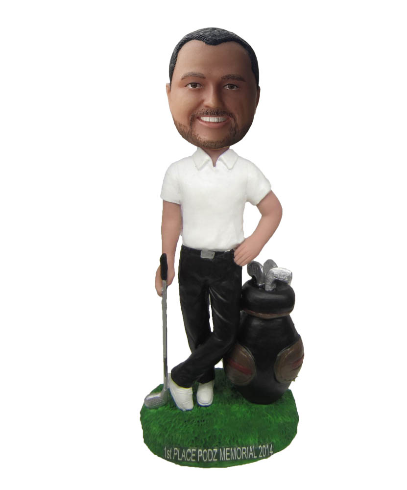 Golf Man Chipping To The Green Bobbleheads B464