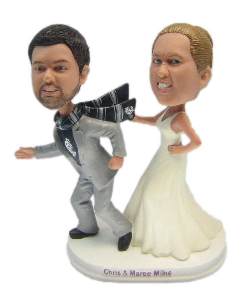 Custom wedding bobbleheads