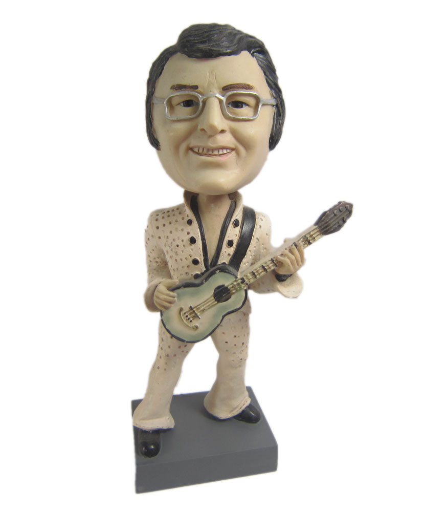 Male guitar player bobblehead