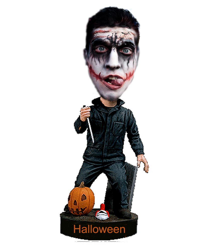 Halloween ghost bobbleheads with Pumpkin B512