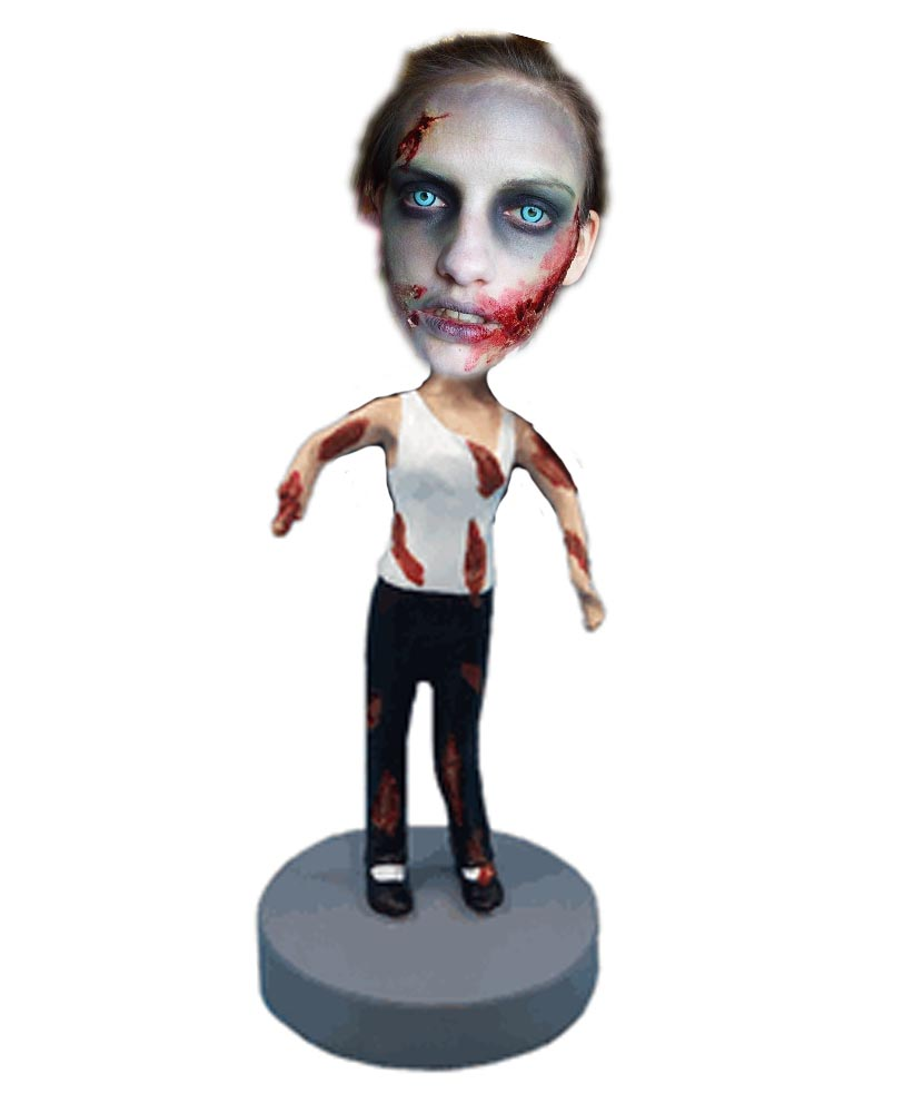 Female Personalized Halloween Zombie Bobbleheads G267