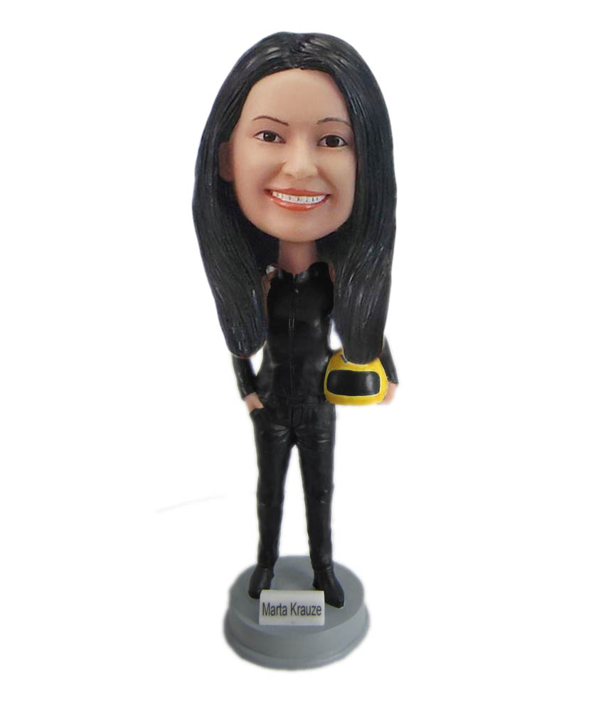Make cycle racing bobble head S918