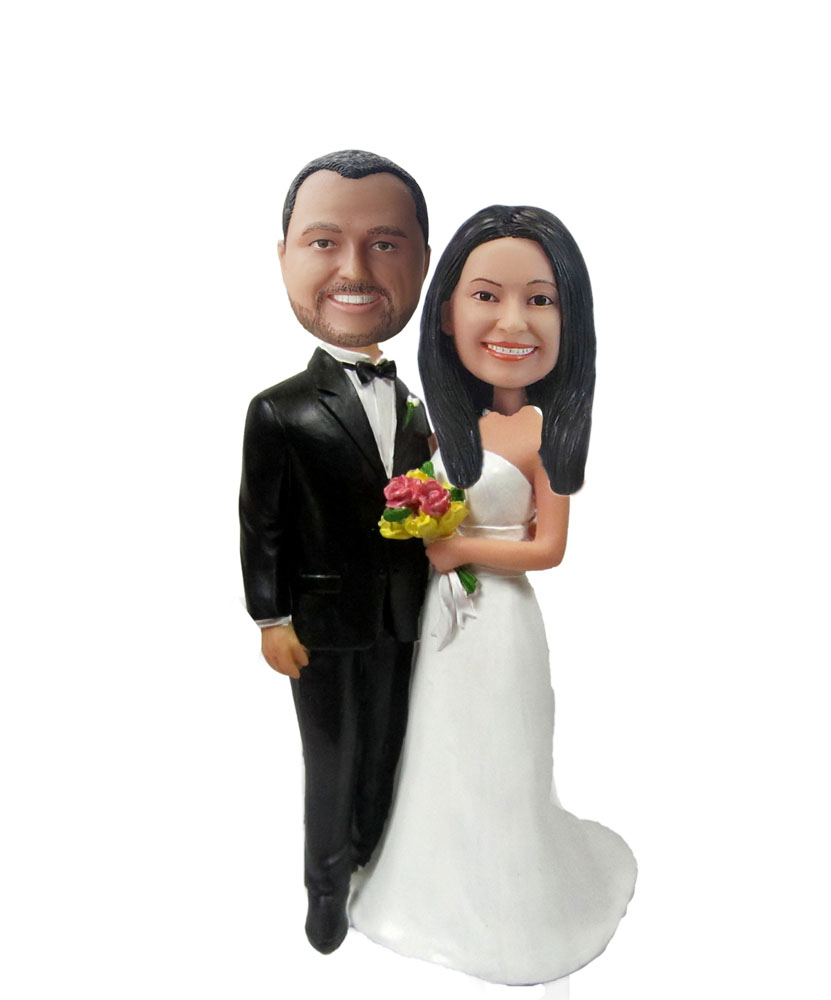 Custom Wedding with face to face Bobblehead