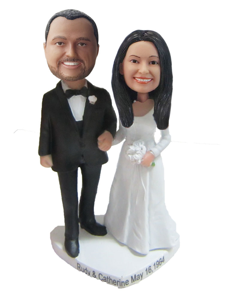 Custom Wedding with based Bobblehead W097