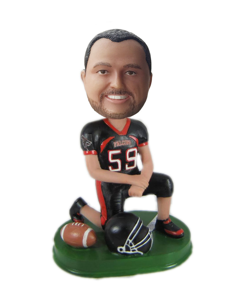 Make rugby bobble head S868