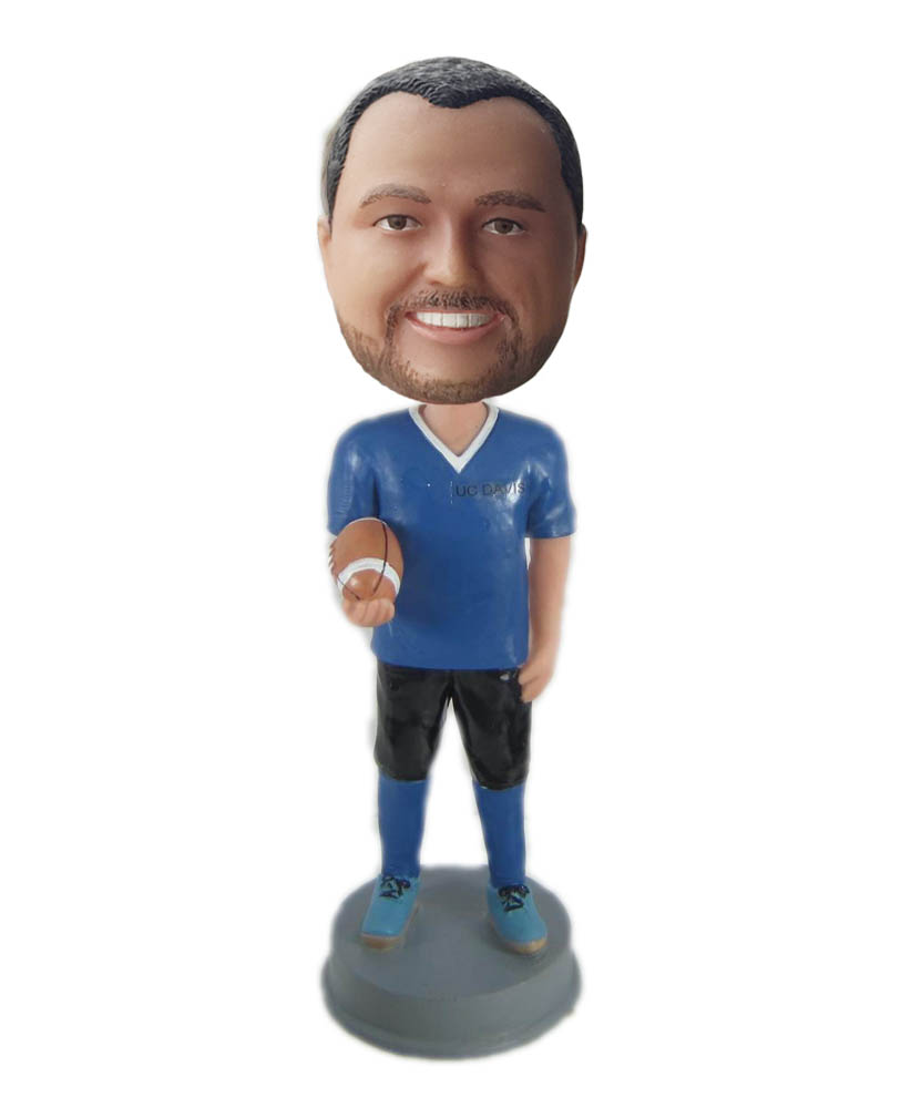 Make rugby bobble head S855