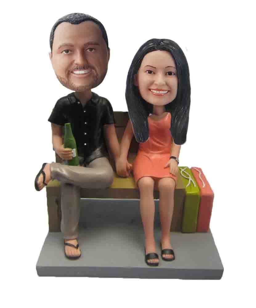 Custom Wedding Bobblehead W124