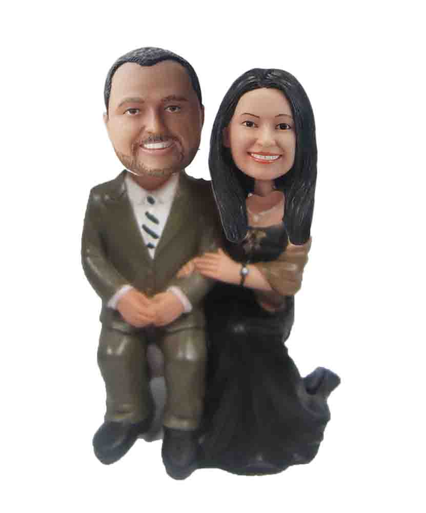 Custom Wedding Bobblehead W128