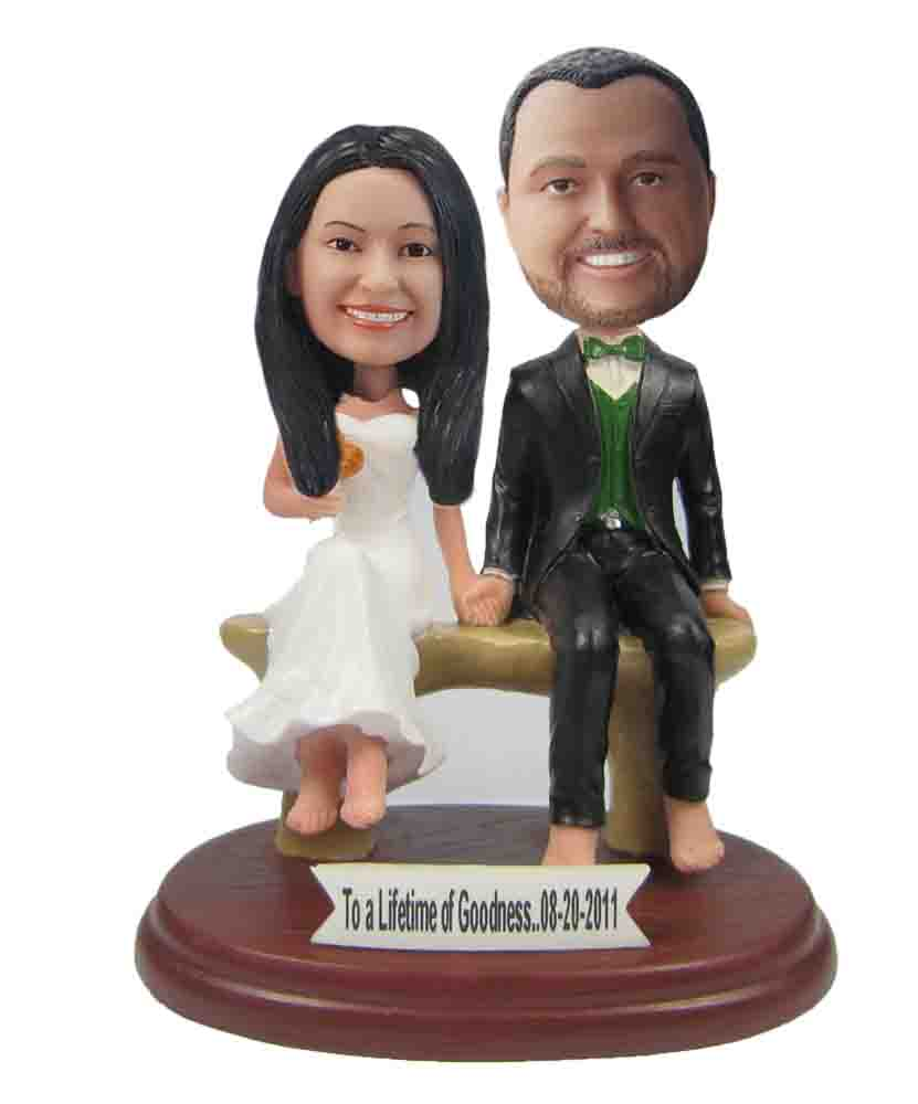 Custom Wedding Bobblehead W140