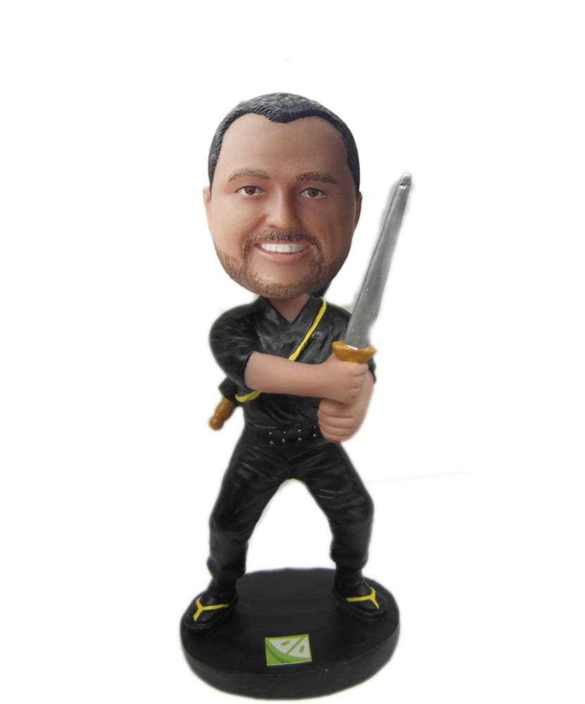 Make fencing  bobble head S739