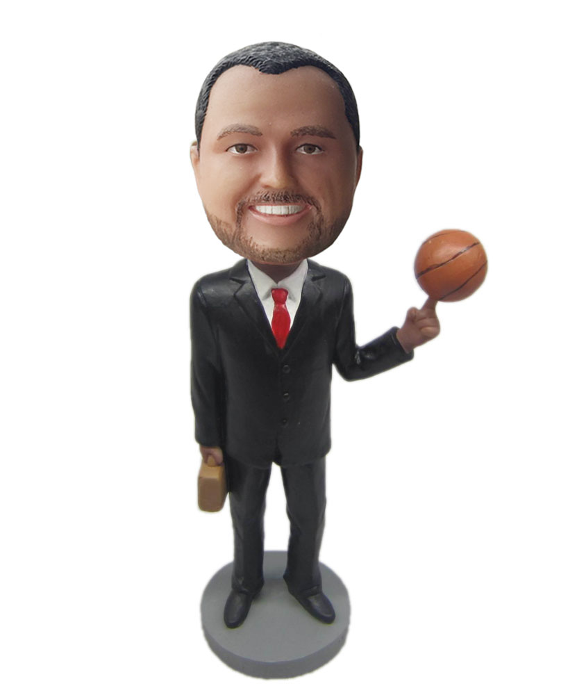 Make your own bobblehead of basketball fans M027