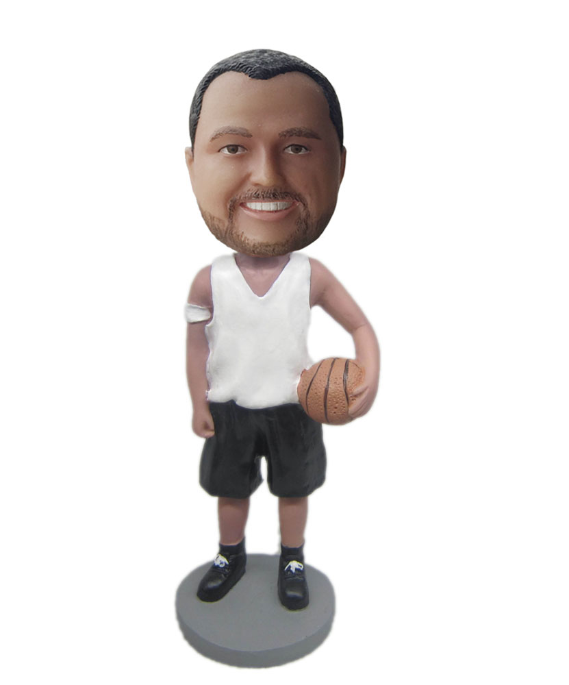 Custom sports bobblehead with basketball M044
