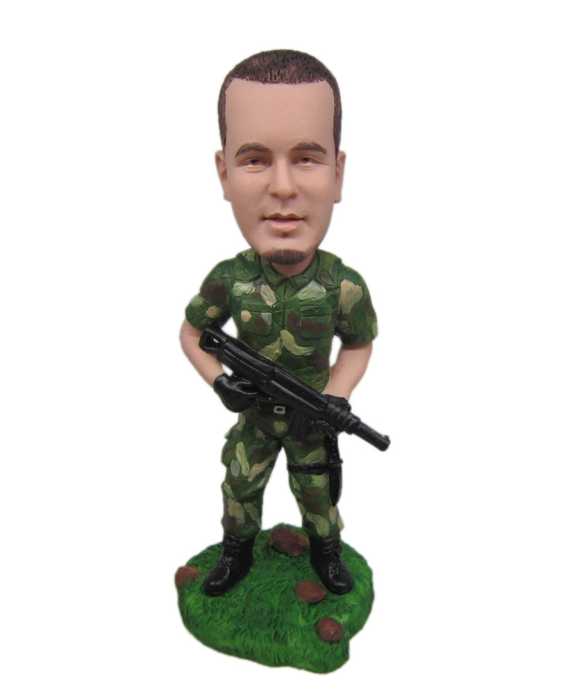 Personalized solider bobblehead M056