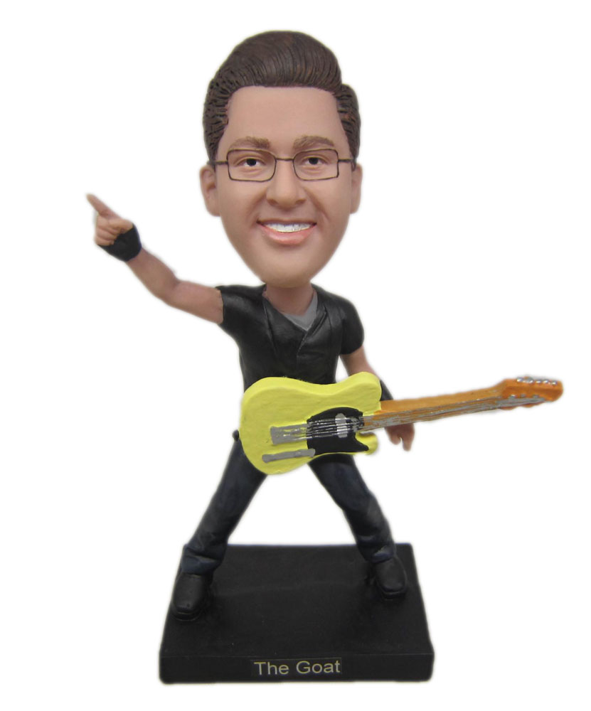 Make your own bobblehead with guitar