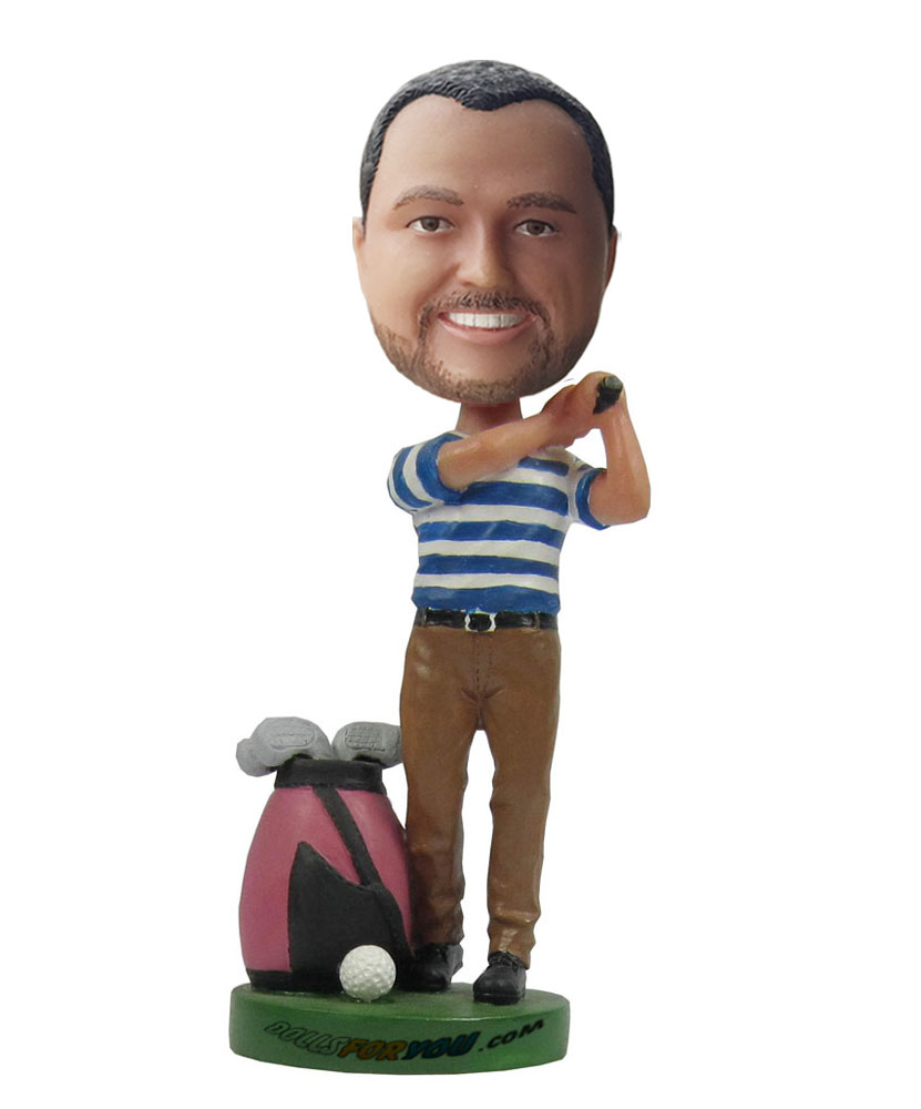 Custom golf of bobble head