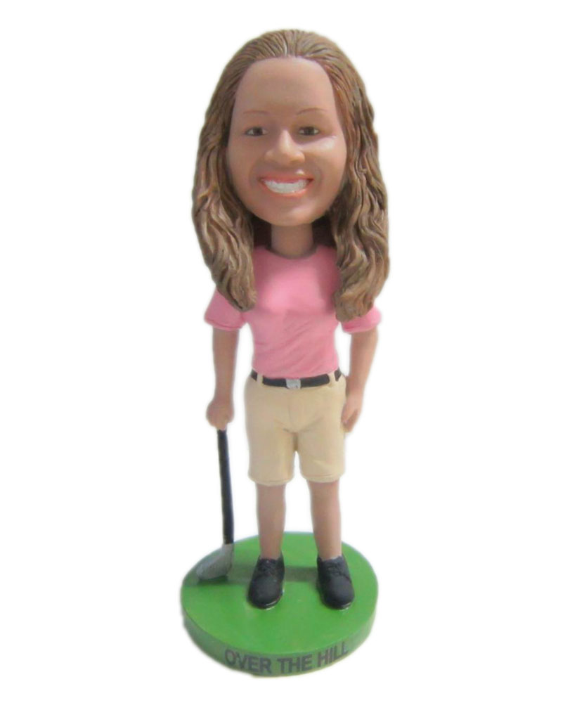 custom beautiful golf bobblehead