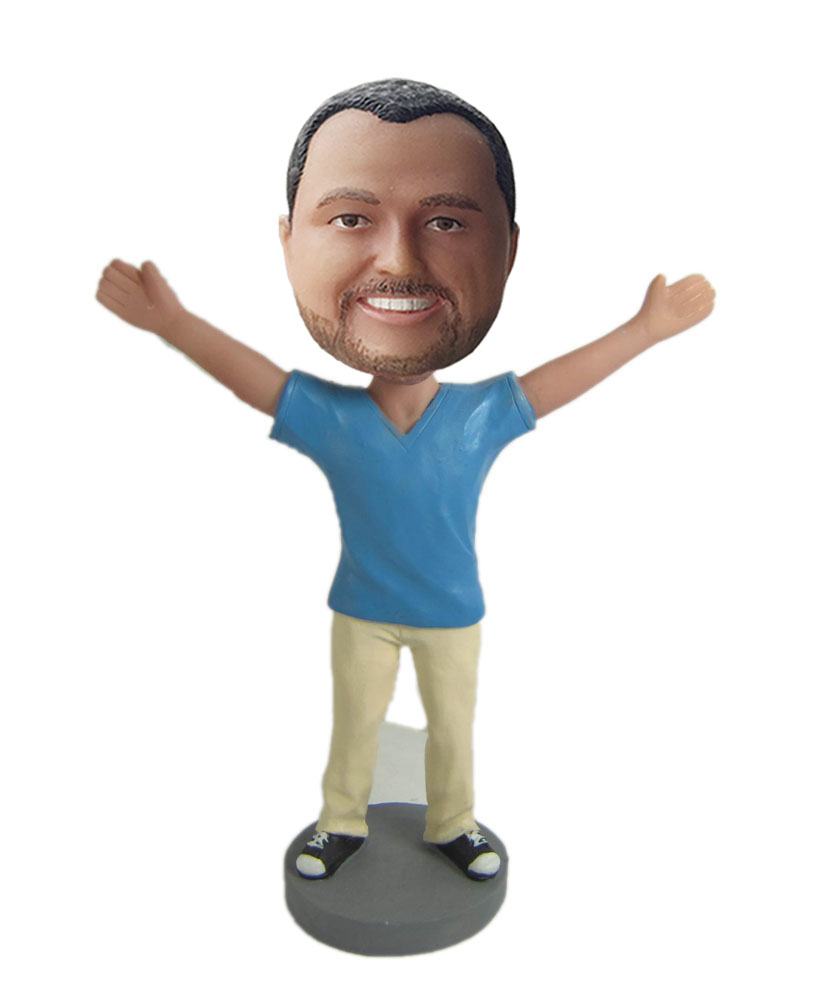 Create your own happy bobblehead