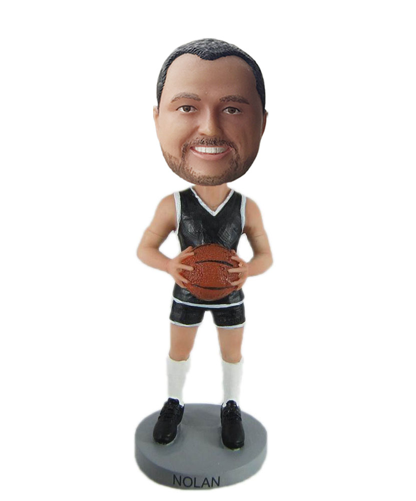 custom basketball bobblehead fan
