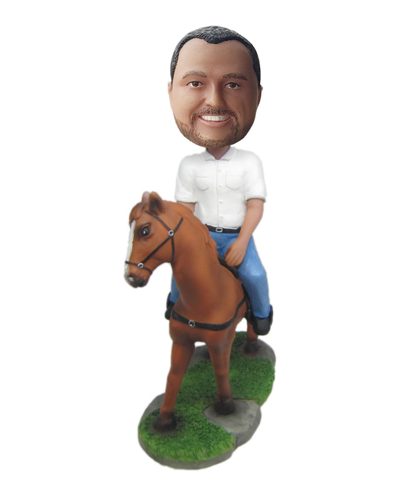 make your own riding horse bobblehead