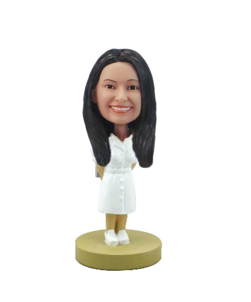 Custom Nurse Babble Head Female Nurse Doll F7904