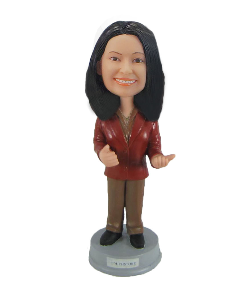 Custom Speech woman Bobble Head Female Speech woman Doll F934