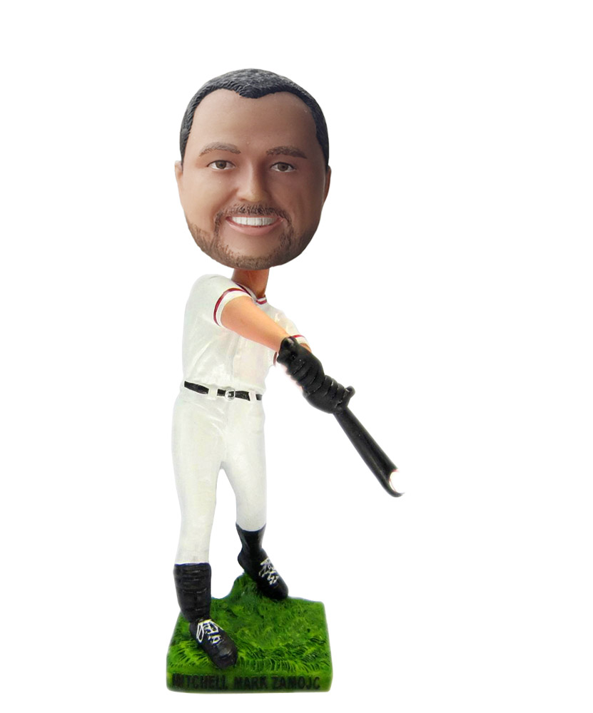 Baseball Man Batting bobblehead Doll  S96