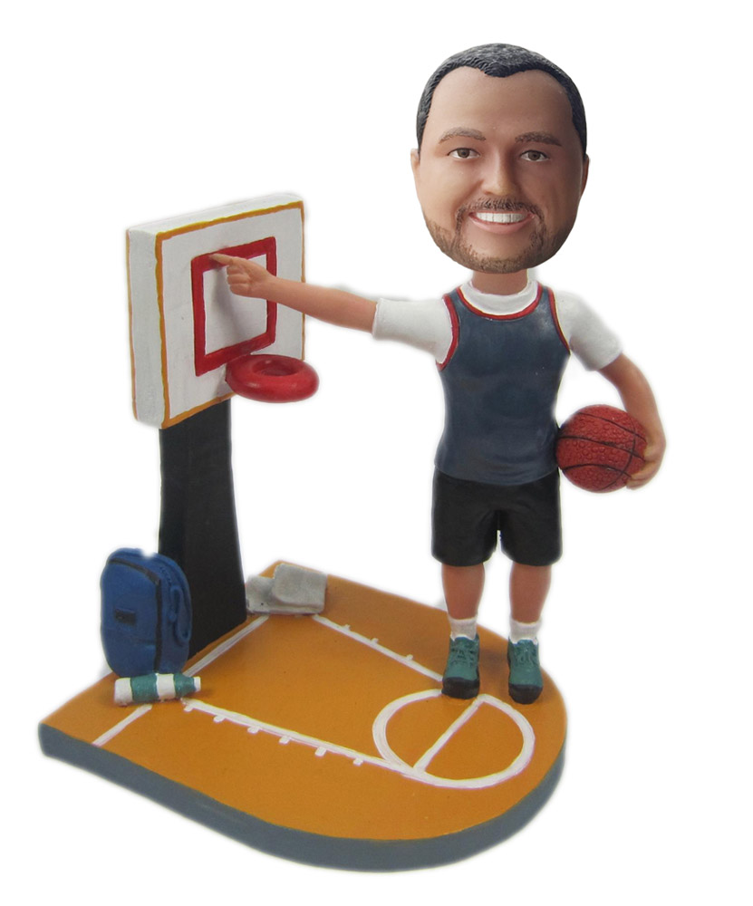 Basketball Fan Female bobblehead Doll S114