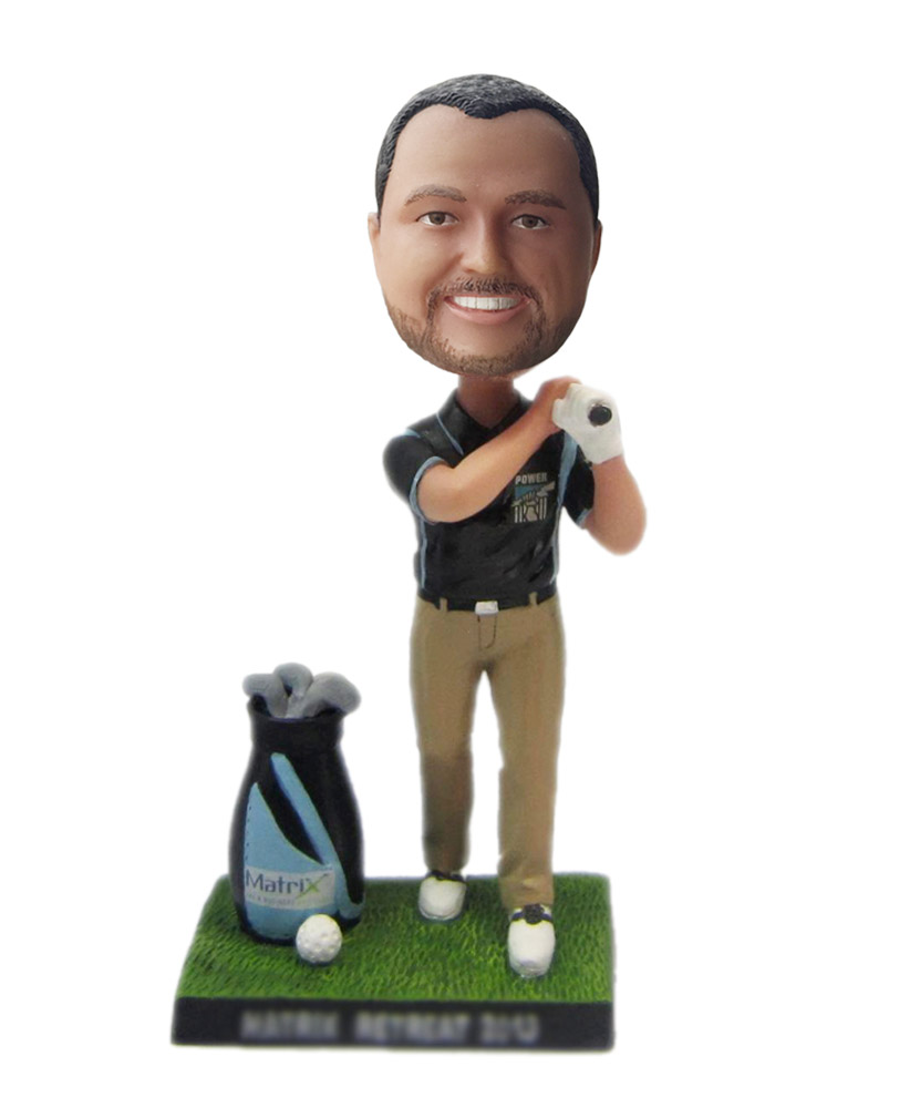 Posing to Swing The Golf Personalized Bobbleheads  S230