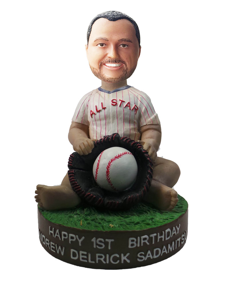 Customized Baseball Bobblehead Doll  In Jersey S586