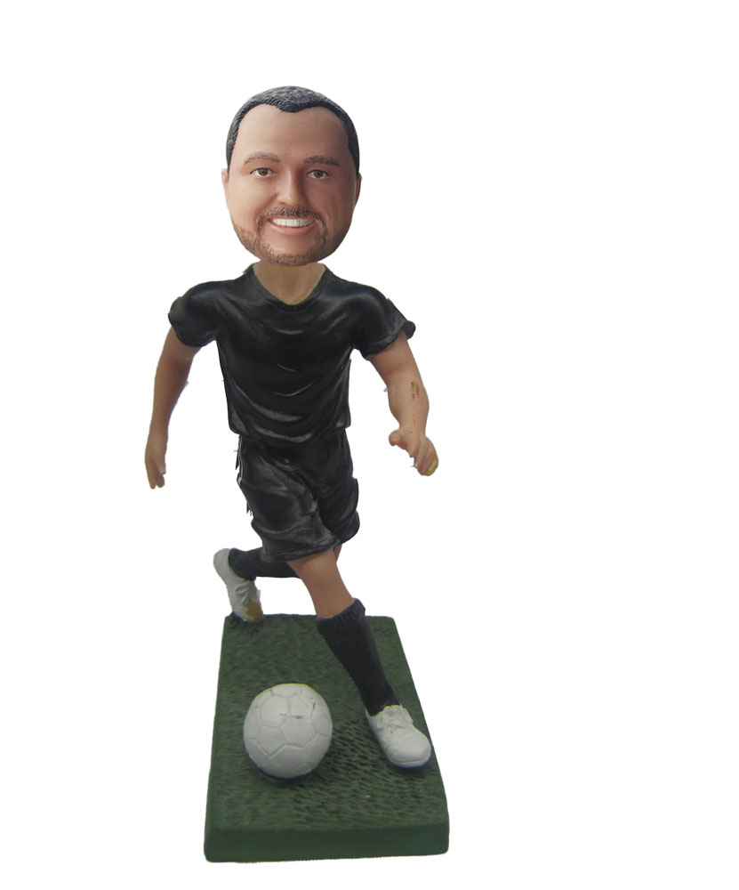 Running Goal Keeper Soccer Player Bobblehead S643