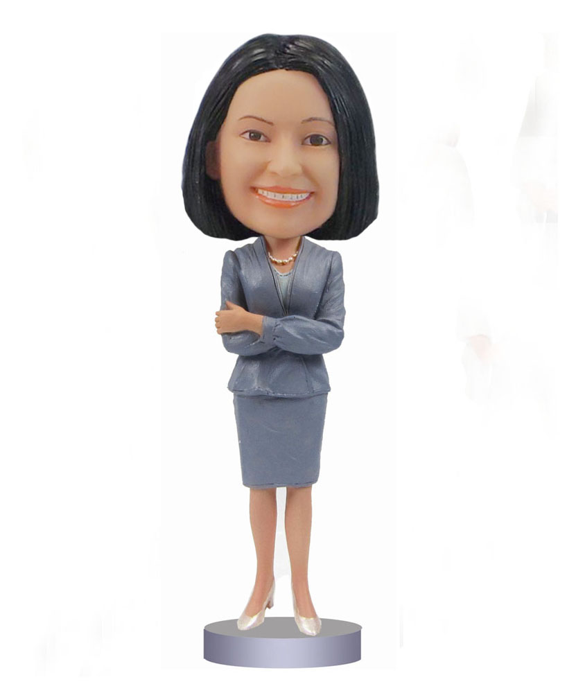 Female Busniness Suit bobblehads doll