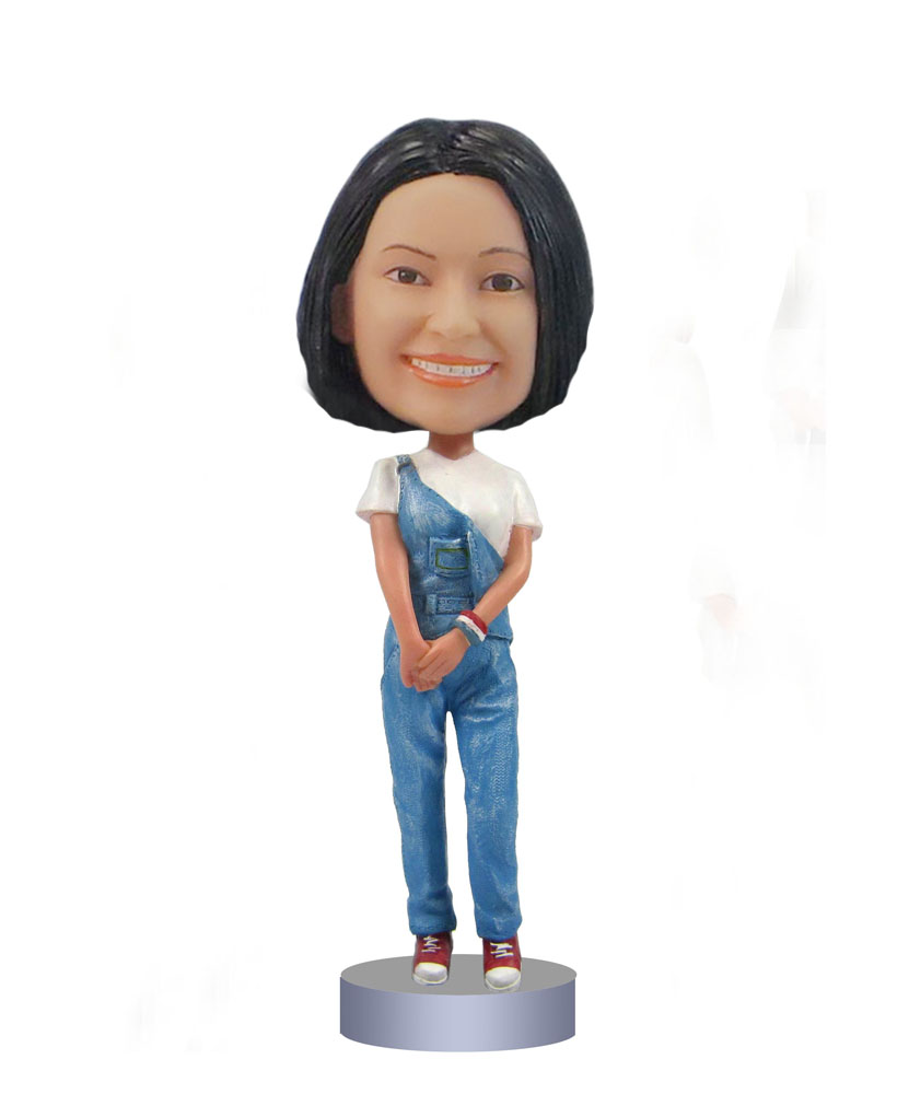 Female with Jean bobblehads bobbleheads for sale