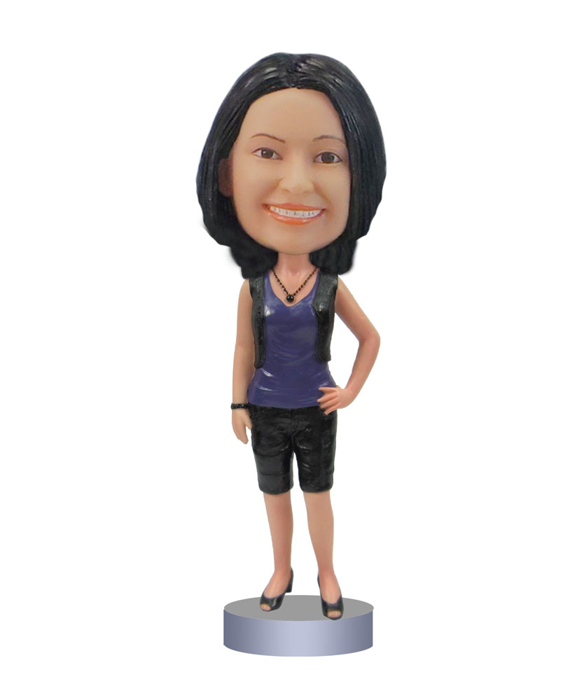 Female Casual Bobbleheads custom dolls