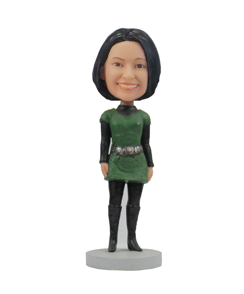 Female Dress and Boots bobbleheads bobble head toy